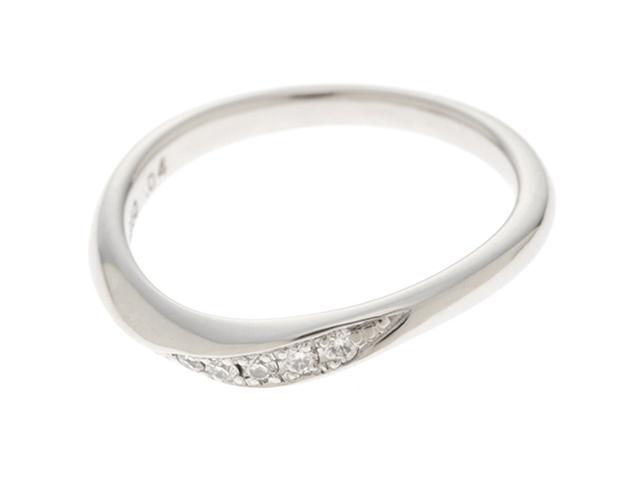 【送料無料】LAZARE ラザール リング 指輪 PT950 プラチナ ダイヤモンド 0.04ct 6号 【460】【中古】【大黒屋】