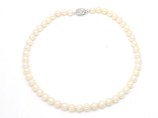 JEWELRY 貴金属・宝石 ネックレス パールネックレス K14 ホワイトゴールド 真珠 あこや真珠 41.2g 【200】【中古】【大黒屋】