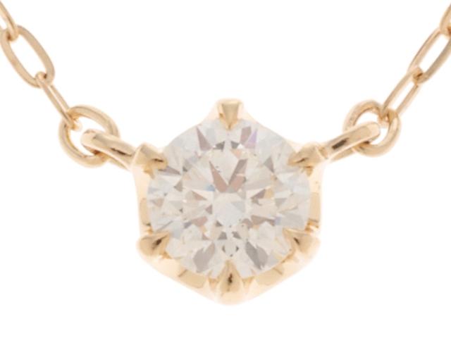 【送料無料】4℃ ヨンドシー ネックレス K18 ゴールド ダイヤモンド 0.157ct 【460】【中古】【大黒屋】