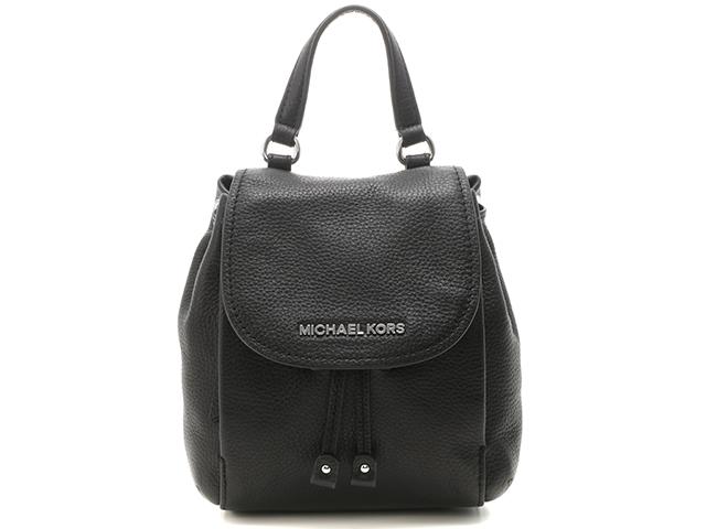 MICHAEL KORS マイケルコース バッグ ショルダーバッグ ブラック カーフ【430】【中古】【大黒屋】