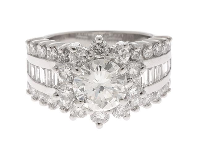 ノンブランドジュエリー JEWELRY デザインリング ダイヤ1.595/1.94カラット プラチナ サイズ10.5号 【437】【中古】【大黒屋】