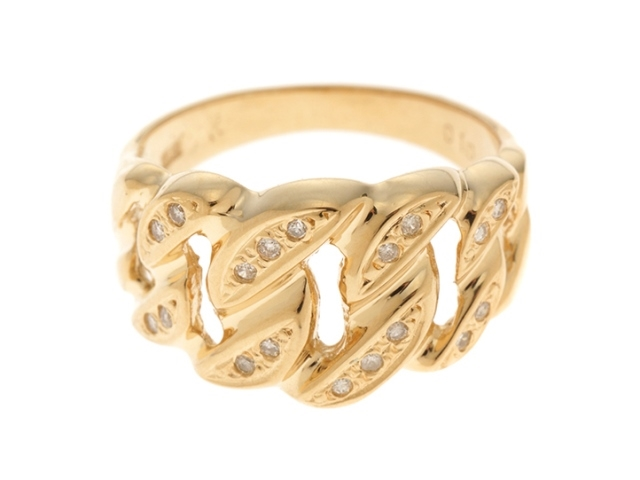 JEWELRY ノーブランドジュエリー リング 指輪 K18 イエローゴールド ダイヤモンド 11.5号 【474】【中古】【大黒屋】