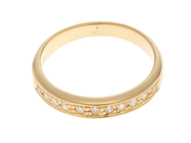 【送料無料】JEWELRY ノンブランドジュエリー リング 指輪 K18 ゴールド ダイヤモンド 0.17ct 12号 【460】【中古】【大黒屋】