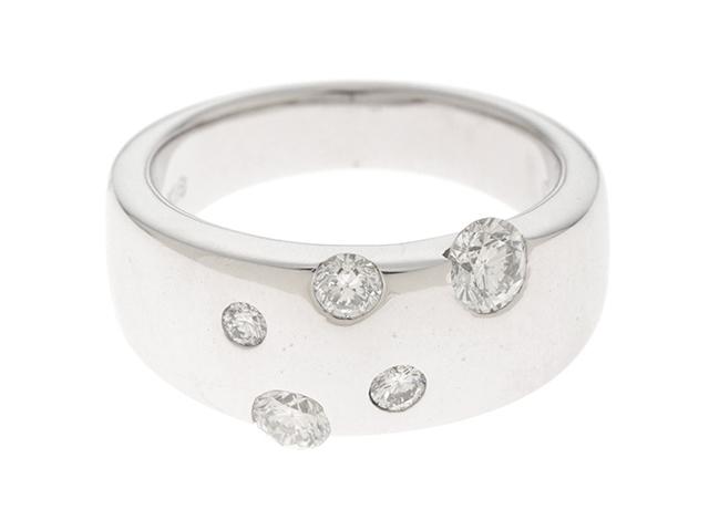 【送料無料】STAR JEWELRY スタージュエリー リング 指輪 K18WG ホワイトゴールド ダイヤモンド 0.50ct 10号 【460】【中古】【大黒屋】