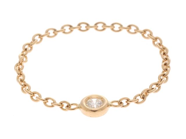 【送料無料】JEWELRY ノンブランドジュエリー チェーンリング 指輪 K18 ゴールド ダイヤモンド 13.5号 【460】【中古】【大黒屋】