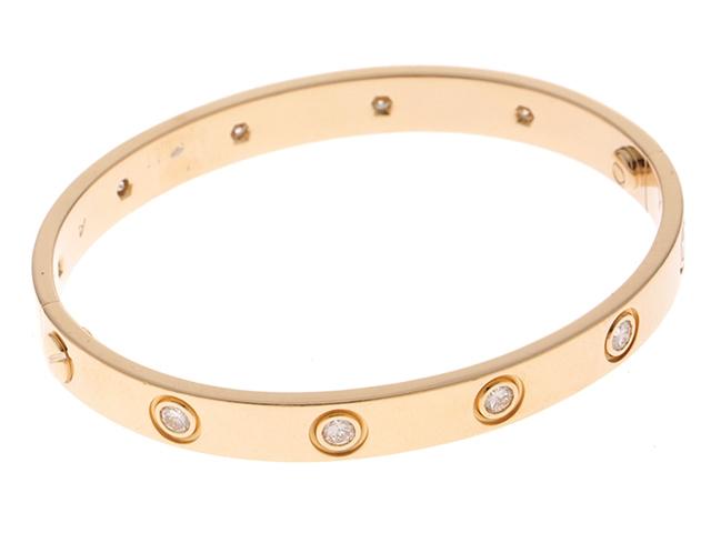 Cartier カルティエ ラブブレス オール イエローゴールド ダイヤモンド 16号【430】【中古】【大黒屋】