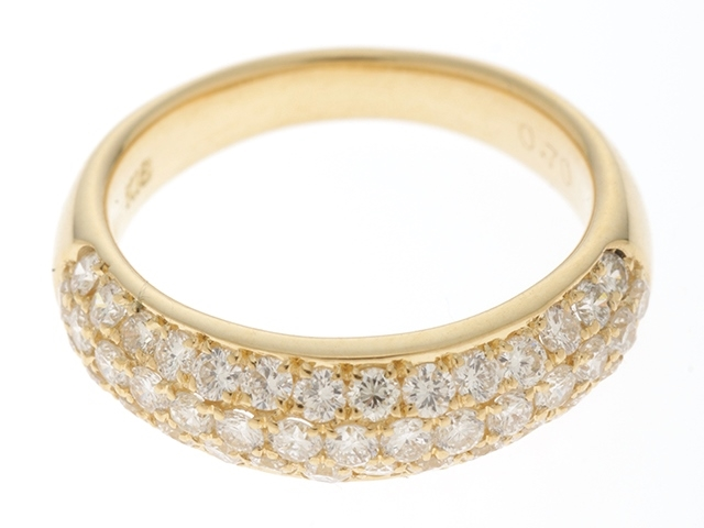 【送料無料】JEWELRY ノンブランドジュエリー リング 指輪 K18 ゴールド ダイヤモンド 0.70ct 5号 【460】【中古】【大黒屋】