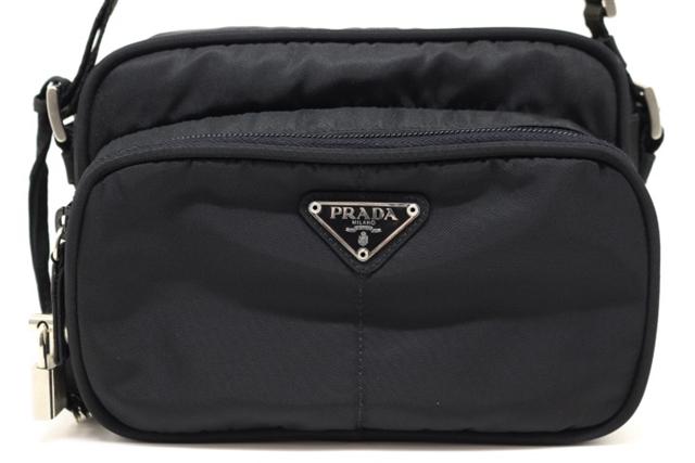 PRADA プラダ ショルダーバッグ ブラック ナイロン B7560 ワンショルダー【200】【中古】【大黒屋】