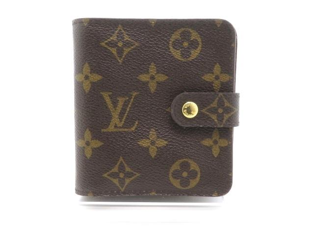LOUIS VUITTON ルイヴィトン 二つ折り財布 コンパクト・ジップ  モノグラム  M61667 【205】【中古】【大黒屋】