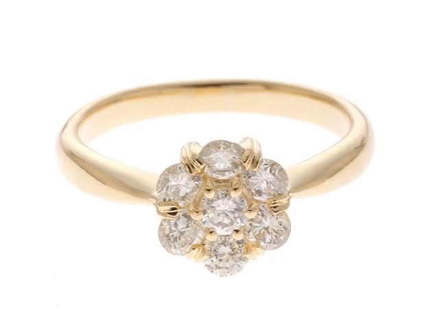 JEWELRY 貴金属・宝石 リング K18イエローゴールド ダイヤモンド0.72 4.1g 13.5号【205】【中古】【大黒屋】