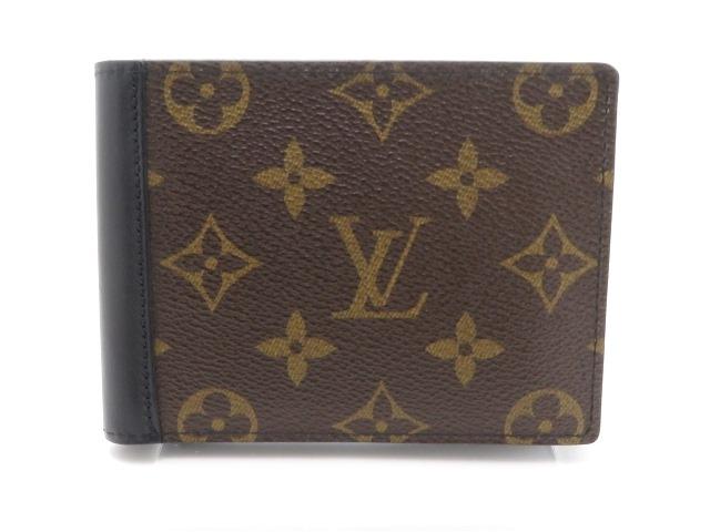 LOUIS VUITTON ルイヴィトン  二つ折財布 ポルトフォイユ・ミンドロ モノグラムマカサー M60411 【205】【中古】【大黒屋】