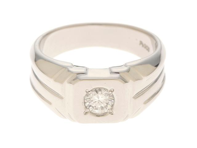 JEWELRY 貴金属・宝石 リング プラチナ900 ダイヤモンド0.309 15.7g 15号【205】【中古】【大黒屋】