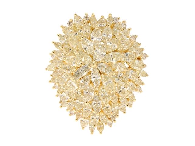 JEWELRY ノンブランド 貴金属・宝石 リング K18イエローゴールド ダイヤモンド4.79ct 0.16ct 11号 13.4g 【205】【中古】【大黒屋】