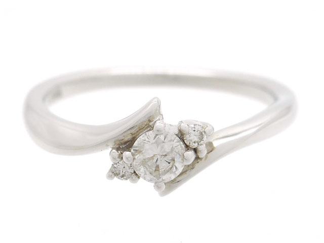 4℃ ヨンドシー 貴金属・宝石 ダイヤリング 指輪 ホワイトゴールド K18WG ダイヤモンド 2.3g 8号 【200】【中古】【大黒屋】