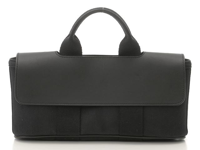 HERMES エルメス バッグ ハンドバッグ バルパライソロングPM ブラック/SV【431】【中古】【大黒屋】