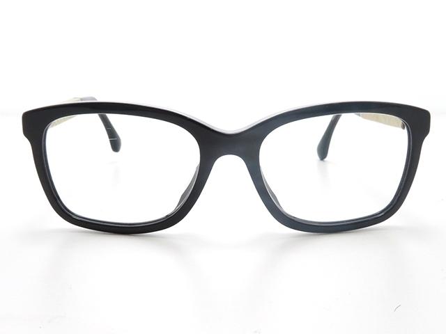 CHANEL シャネル サングラス プラスチック メガネフレーム クリア アイボリー ブラック 【430】【中古】【大黒屋】