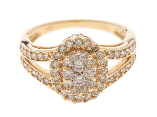 JEWELRY   リング  K18金 ダイヤモンド1.00 約5.4g 15号 【472】SS【中古】【大黒屋】