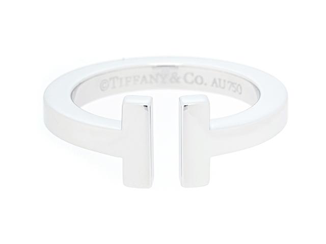 【送料無料】TIFFANY&CO ティファニー 貴金属・宝石 リング 指輪 Tスクエア ホワイトゴールド K18WG 10号 【430】【中古】【大黒屋】