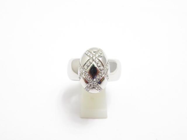 【送料無料】JEWELR ノンブランド ホワイトゴールド ダイヤモンド リング K18 D0.38 12.0g 11.5号【430】【中古】【大黒屋】