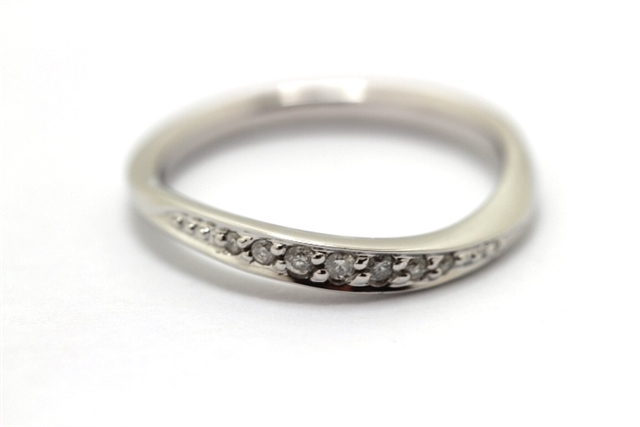 4℃ ヨンドシー 指輪 リング K10ホワイトゴールド ダイヤモンド 10号 【474】【中古】【大黒屋】