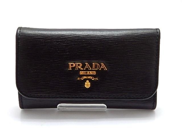 PRADA プラダ キーケース 6連キーケース 1PG222 ヴィッテロムーヴ ブラック 【474】【中古】【大黒屋】