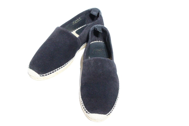 SAINT LAURENT サンローラン ベルト・くつ 靴 エスパドリーユ 43 約29cm ブラック スエード【472】【中古】【大黒屋】