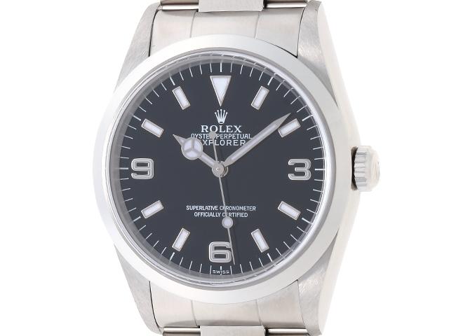 【送料無料】ROLEX ロレックス 時計 エクスプローラー1 14270 A番 オートマチック 黒文字盤 ステンレス メンズ 【438】【】【大黒屋】