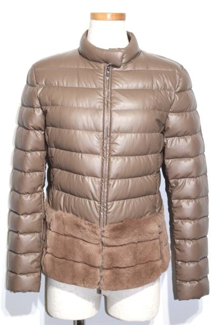 ARMANI アルマーニ 衣料品 衣類 正規認証品 新規格 ブルゾン 格安激安 レディース 38 M 200 大黒屋 ベージュ ダウン 中古