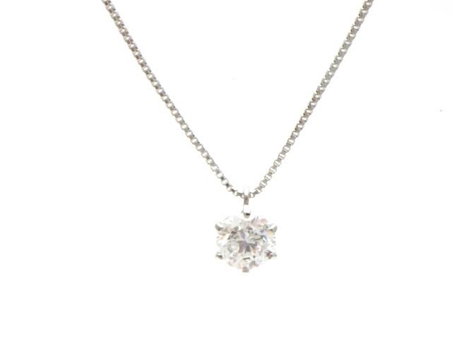 【送料無料】ノンブランド 1ポイントダイヤネックレス プラチナ ダイヤモンド0.511ct 【440】【中古】【大黒屋】