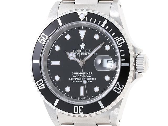 【送料無料】ROLEX ロレックス 時計 サブマリーナ 16610 ステンレス オートマチック ブラック A番 【472】【中古】【大黒屋】