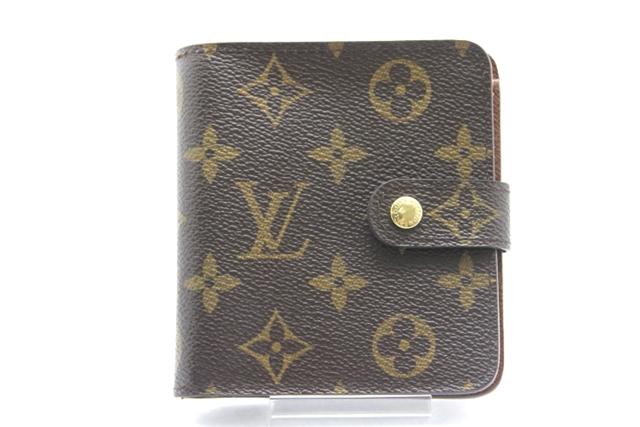 LOUIS VUITTON ルイ・ヴィトン 二つ折り財布 モノグラム コンパクト・ジップ 【450】【中古】【大黒屋】