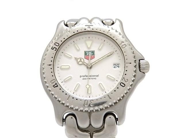 TAG HEUER タグ・ホイヤー 時計 プロフェッショナル S99.006K ステンレス クオーツ ホワイト 【474】【中古】【大黒屋】