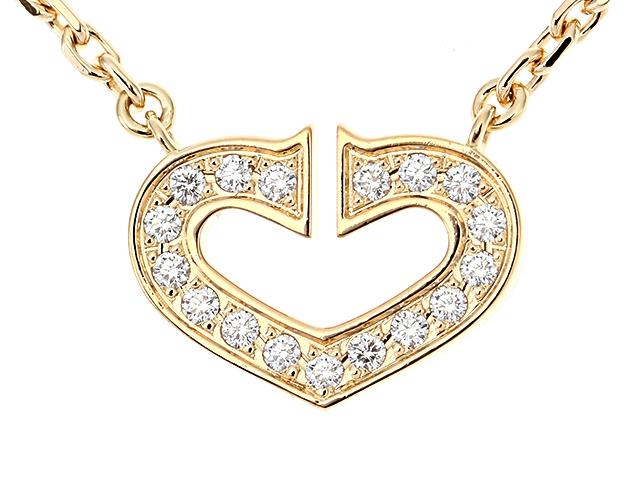 【送料無料】Cartier カルティエ Cハートダイヤネックレス イエローゴールド ダイヤモンド 【411】【中古】【大黒屋】