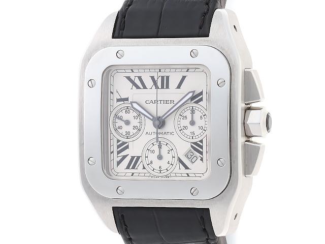 【送料無料】Cartier カルティエ 時計 サントス 100 クロノ XL オートマチック W20090X8  【471】【中古】【大黒屋】