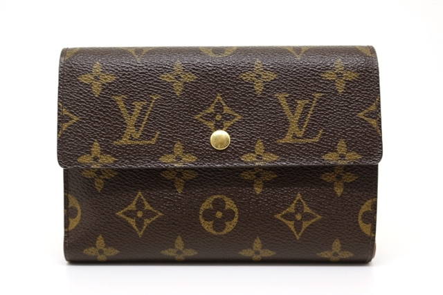 LOUIS VUITTON ルイヴィトン サイフ・小物 三つ折財布 財布 モノグラム M61202 【200】【中古】【大黒屋】