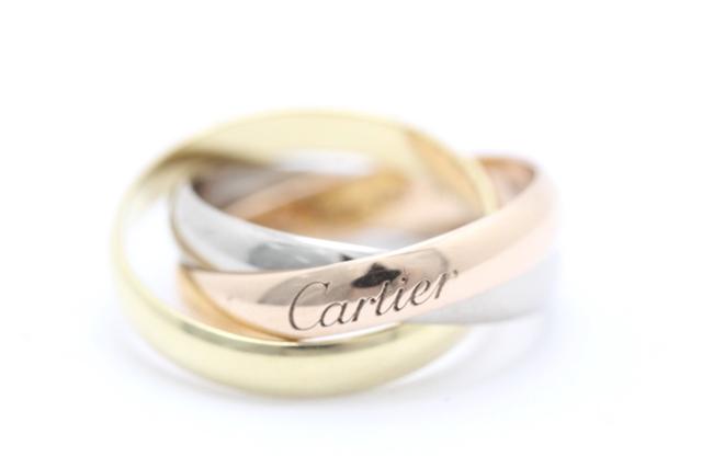 Cartier カルティエ リング 3カラー K18 トリニティ 8号 【450】【中古】【大黒屋】