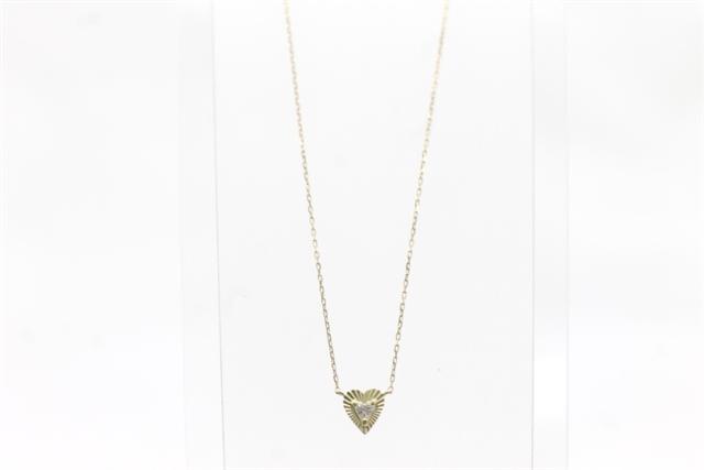 AHKAH アーカー 貴金属・宝石 K18YG イエローゴールド ダイヤモンド ネックレス ハートモチーフ 【450】【中古】【大黒屋】