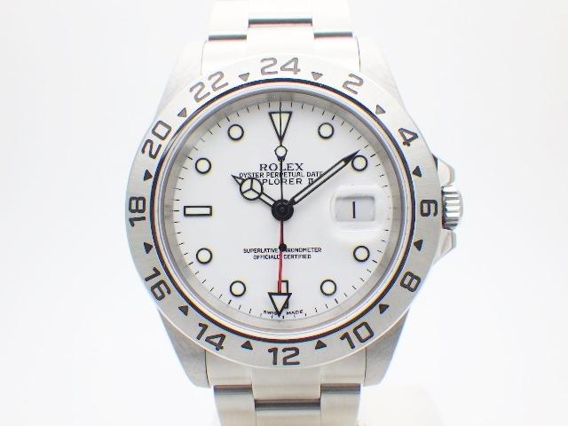【送料無料】ROLEX ロレックス エクスプローラー2 16570 ホワイト SS F番台 メンズ 【438】【中古】【大黒屋】