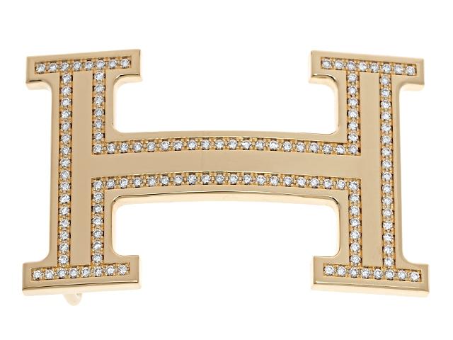 【送料無料】HERMESエルメス コンスタンスバックル YG×ダイヤモンド【430】【】【大黒屋】