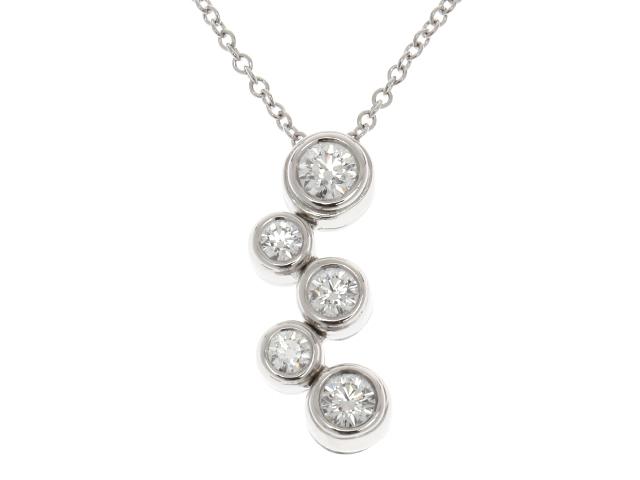 【送料無料】TIFFANY&CO バブルネックレス PT950 ダイヤモンド【410】【中古】【大黒屋】