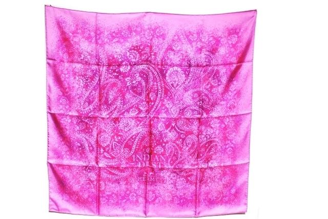 HERMES エルメス 衣料品 スカーフ カレ90 INDIAN DUST(インディアンダスト) ピンク ムラサキ シルク 【200】【中古】【大黒屋】