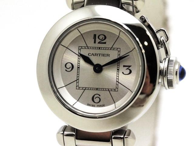 [送料無料]Cartier カルティエ 時計 ミスパシャ クオーツ ステンレス SS シルバー文字盤 W314007 【470】【中古】【大黒屋】