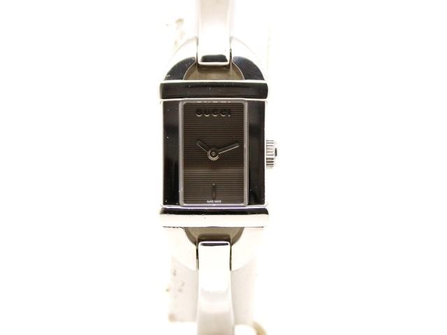 GUCCI グッチ 時計 6800L ダークグレー文字盤 ステンレススチール クォーツ 【200】【中古】【大黒屋】