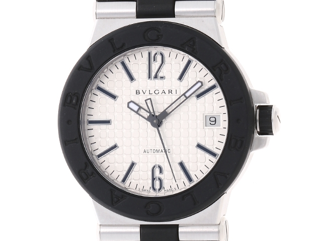6fa5625d6cad BVLGARIブルガリウォッチ時計メンズ男性オートマチック自動巻きディアゴノDG35SVSSラバーベルト【436】