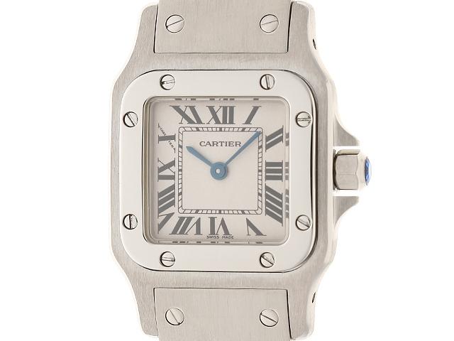 【送料無料】Cartier カルティエ サントス ガルベSM W20056D6 シルバー ステンレス クオーツ【204】【中古】【大黒屋】