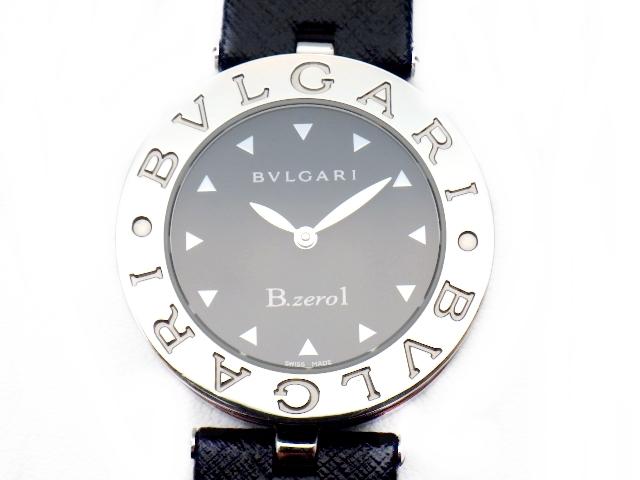 【送料無料】BVLGARI ブルガリ 時計 ウォッチ B-zero1 ビーゼロワン BZ30 ブラック 黒 クォーツ 電池 SS/革 ステンレススチール 【413】【中古】【大黒屋】