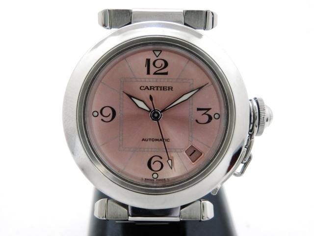 【送料無料】Cartier オートマチック パシャC ピンク ボーイズ W31075M7【411】【中古】【大黒屋】