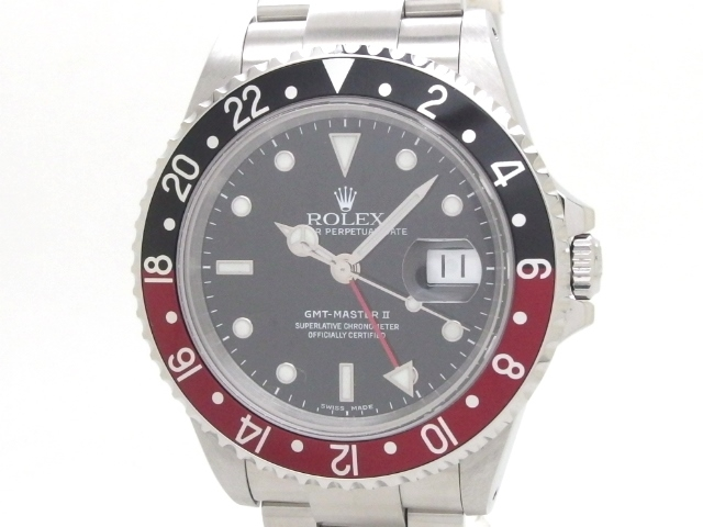 【送料無料】ROLEX ロレックス 時計 GMTマスター2  16710 オートマチック  ステンレススチール P番 【439】【中古】【大黒屋】