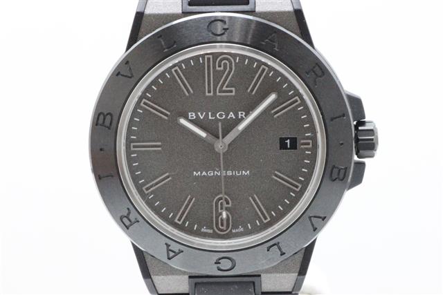 【送料無料】BVLGARI ブルガリ ディアゴノマグネシウム41 DG41C14SMCVD ブラック メンズ腕時計 マグネシウム/セラミック/ラバー【472】【中古】【大黒屋】