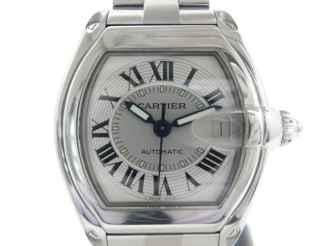 【送料無料】Cartier オートマチック ロードスター メンズ シルバー W62000V3 【411】【中古】【大黒屋】